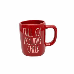 Rae Dunn FULL OF HOLIDAY CHEER Coffee Mug Red